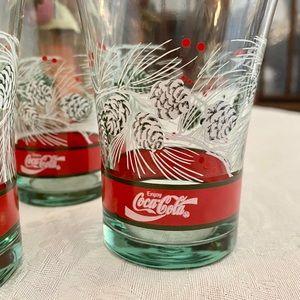 Cocoa Cola Christmas glasses